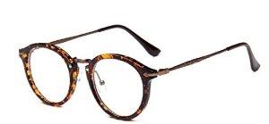 Embryform Retro lunettes rondes frame hommes miroir plaine et les femmes visage religieux sauvages 9580 Marron…