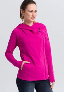 Erima 2071825 Sweat-Shirt à Capuche Femme, Fuchsia/Purple Potion, FR : XS (Taille Fabricant : 34)