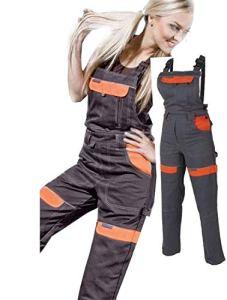 Les femmes salopettes travail pantalons dames et filles Pantalon de travail Salopette pantalon de de jardinage , combinaison 40 EU