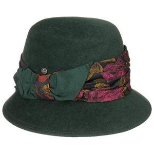 Lierys Chapeau en Feutre de Poil avec Brocart Femme – Made in Italy Cloche pour Automne-Hiver – Taille Unique Vert