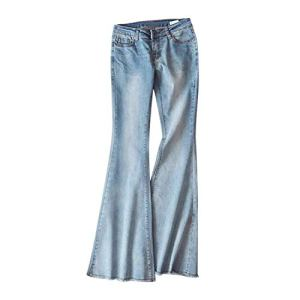 Lisli Pantalon Bootcut Femme Slim Pant Collant Jean Denim Taille Basse Legging Casual Yoga Printemps Bleu Clair 40 FR