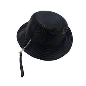lucky-bonbon Bonnet en Cuir Noir pour Femme Automne Hiver Cool Bonnet Bonnet Bonnet Bonnet Noir