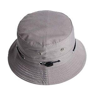 Mode Chapeau Bob Chapeau de Soleil Pliable Unisexe Chapeau De Visière Chapeau de pêcheur Chapeau de Protection Solaire avec Cordon de Serrage Double Face Pêche Gris