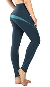 New Mincc Legging de Sports Femme Basique Pantalon Long pour Yoga Jogging Courir Grande Taille Haute Minceur (Vert,S)