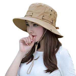 Shentukeji Chapeau de Soleil pour Homme et Femme – Large Bord UPF 50 Protection Solaire & ☛ Chapeau de pêcheur étanche pour l'extérieur avec Nylon évacuant l'humidité