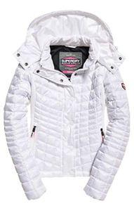 Superdry Nova Box Quilt Fuji Jacket Veste de Sport, Blanc (Optic Bianco 26c), Medium (Taille Fabricant: 12.0) Femme