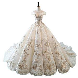 WFHhsxfh Fuite de la Robe de mariée de d'épaule, Robe Adulte Princesse, Robe de Cocktail Robe de mariée Robes de mariée pour la mariée (Size : XXL)