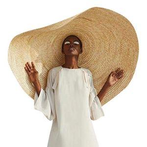 YEBIRAL Grand Chapeau de Soleil Femme Bord Large Souple Bonnet Roll Up Pliable Mode Chapeau de Paille Protection Solaire Anti-UV de Plage Unisex
