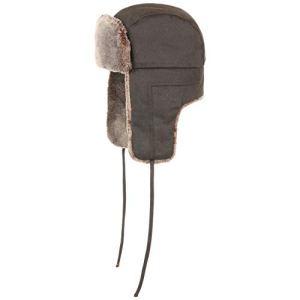 Stetson Bonnet dŽAviateur Old Cotton Femme/Homme – Chapka d'aviateur avec Oreillettes, Doublure, jugulaire, jugulaire Automne-Hiver – M (56-57 cm) Marron