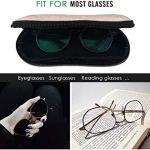 Sword Dynasty Étui à lunettes à glissière en or rose pour les lunettes de soleil Lunettes de lecture Lunettes de protection pour homme et femme