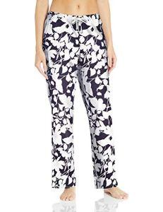 Amazon Essentials Pantalon de nuit en popeline pour femme, Bleu marine Floral, US L (EU L – XL)