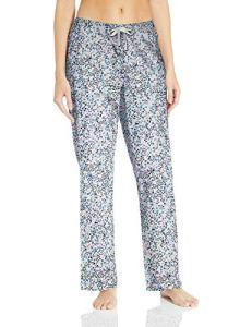Amazon Essentials Pantalon de nuit en popeline pour femme, Blue Multi Floral, US XXL (EU 3XL – 4XL)