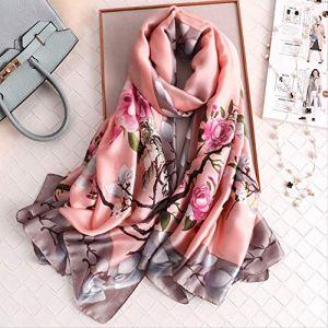 CAOCHENXI Turban de foulard en soie de luxe Lady Design Imprimer femmes foulard Summer Lady châle plage Blouse foulard Wrap Fs432-1