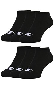 Champion 6pk Sneaker Socken Chaussettes, Noir, 39-42 Mixte