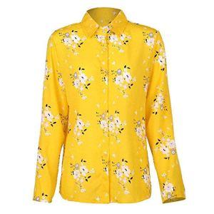 Chemises à Manches Longues pour Femmes, Plus la Taille Col Rabattu Chemisier Chemise Tops décontractés Vêtements de Travail élégants Chemises en Mousseline de Soie 5XL