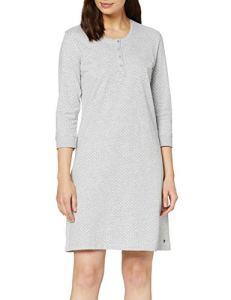 Esprit Jordyn Nightshirt Chemise De Nuit, Gris (Light Grey 040), 48 (Taille Fabricant: 46) Femme