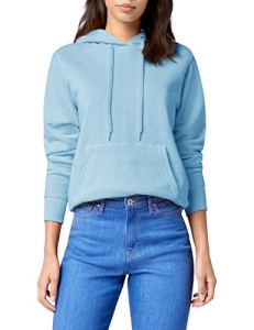 Fruit of the Loom – Sweat-shirt à capuche – Manches Longues – Femme – Bleu (Sky) – FR 40 (Taille fabricant: M)