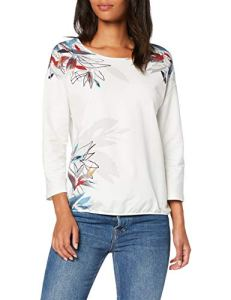 Gerry Weber 270211-35011 Sweat-Shirt, Multicolore (Off White Rost Blau Druck 9329), 48 (Taille Fabricant: 46) Femme
