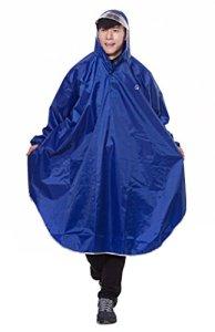 Icegrey Adulte Léger PVC Long Taille Capuche Pour Imperméable Faire du Vélo Pluie Cape de Poncho à Manches Bleu