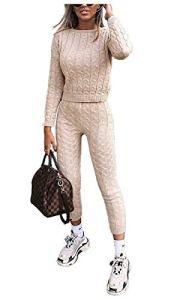 Janisramone Lot de 2 Leggings en Tricot pour Femme – Noir – Medium