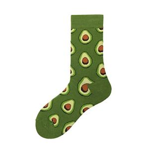 Jejhmy Coton drôle chaussettes femmes et hommes nouveau mignon nouvel an père Noël Noël fruits animaux poisson heureux chaussettes EUR36-40 avocat,chaussettes femme coton fantaisie