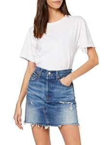 Levi's HR Decon Iconic BF Skirt Jupe, Bleu (High Plains 0011), Unique (Taille Fabricant: 29) Femme