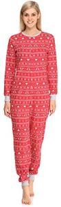 Merry Style Combinaison Pyjama Vêtement d'Intérieur Femme MS10-187 (Rouge/Renne, XL)