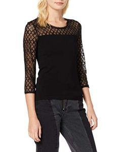 Morgan 192-MKOKO.N T-Shirt, Noir (Noir Noir), Small (Taille Fabricant:TS) Femme