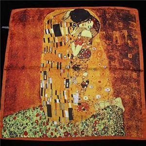 MYSdd Peinture à l'huile écharpe Dames écharpe Mode écharpe Noeud Papillon écharpe élégante Petite écharpe Sac à Main Sangle décorations – 2