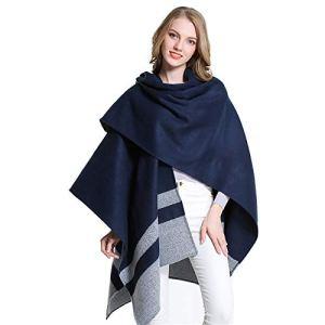 Nice1s Ladies Shawls and Wraps, manteau élégant de chandail de châle de femmes pour le printemps d'hiver réversible couverture écossaise surdimensionnée Cape Shawl Cardigans