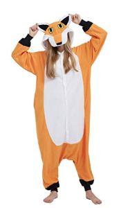 Pyjama Licorne Kigurumi Adulte Animal Cosplay Costume Sleepwear Combinaison Jumpsuit Renard S