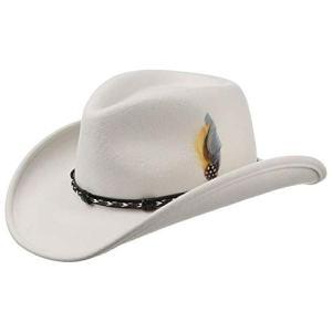 Stetson Chapeau Amasa Western VitaFelt de Cowboy (S (54-55 cm) – Blanc)