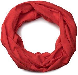styleBREAKER tissu multifonction jersey, buff, bandeau, chouchou, mouchoir de tête, écharpe tubulaire, unisexe 01012037, couleur:Rouge tomate