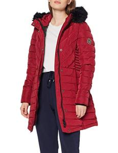 Superdry Icelandic Parka, Rouge (New Port OXA), 42 (Taille Fabricant: Large) Femme
