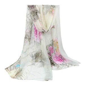 ToDIDAF Écharpe en Soie pour Femme 160 cm, Multicolore D