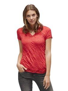 TOM TAILOR Allover Crinkled Shirt, Rose (Permanent Rose 4760), Medium Femme