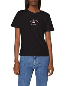Tommy Jeans Tjw Essential Americana Tee T-Shirt, Noir (Black Bbu), Medium Femme
