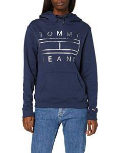 Tommy Jeans Tjw Essential Logo Hoodie Blouson, (Blue Cbk), X-Large Femme