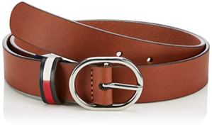 Tommy Jeans Tjw Flag Inlay Belt 3.0 Ceinture, (Brown 262), XX-Small (Taille fabricant: 75) Femme