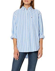 Tommy Jeans Tjw Washed Multistripe Shirt Chemise, (Blue 0bg), Small Femme