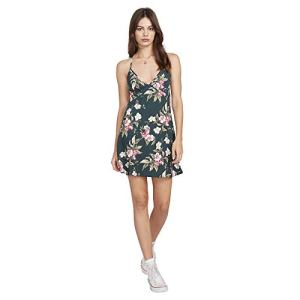 Volcom Women's Haute Tropic Dress Emerald Green