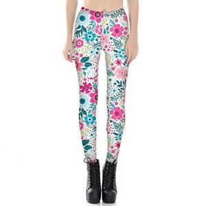 WUANNI Collants de Sport Dames Fitness Pantalon Taille Haute Pantalon de Yoga avec Gym Fitness Jogging Poches Oc01,Pantalon de survêtement Skinny imprimé numérique pour Femme-H_L