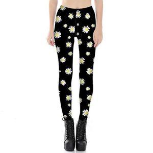 WUANNI Pantalon De SurvêTement De Base pour Femme Leggings Imprimé,Pantalon de survêtement Skinny imprimé numérique pour Femme-D_XL