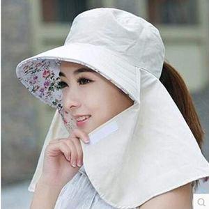 XUJJA Chapeau de Bronzage for Femmes en été avec Protection Solaire en Plein air, Protection UV, Chapeau de Soleil Repliable (Color : Beige, Size : M)