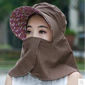XUJJA Chapeau de Bronzage for Femmes en été avec Protection Solaire en Plein air, Protection UV, Chapeau de Soleil Repliable (Color : Coffee, Size : M)