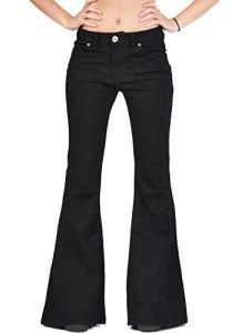 Glamour Outfitters 60s/70s Jean Flare – en Denim – Noir 40