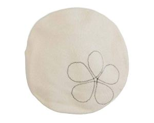 Max Alexander Cream Embroidered Winter Beret by