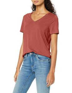 Only ONLFREE Life S/S V-Neck Top Noos JRS T-Shirt, Henné, XL Femme