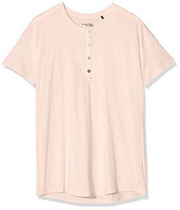 Schiesser Mix & Relax Shirt 1/2 Arm Haut De Pyjama, Rouge (Sorbet 524), 46 (Taille Fabricant: 044) Femme