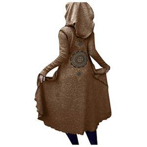 STYLEEA Manteau Femme Hiver Grande Taille à Capuche Chaud Teddy Polaire Vintage Gothique Punk Médiévale Renaissance Long Manteaux Costume pour Fête Drame Carnaval Cosplay Déguisement